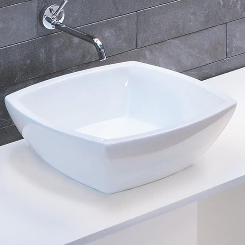 fuori square ceramic sink -L010.BCO - Gineico Marine
