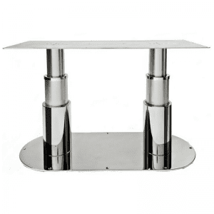 Table Pedestal with Twin Legs and Oval Base