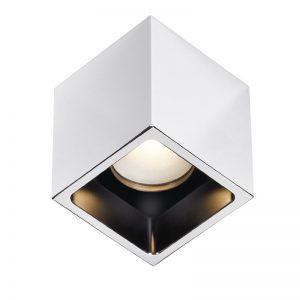 Gomera square polished chrome Downlight- BCM -Gineico Marine