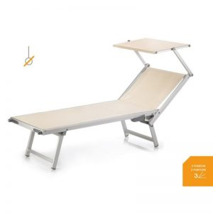 T3 Sunbed with face shade - Gineico Marine