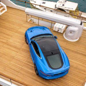 tender lift for boat onto superyacht G360 - Besenzoni _ Gineico Marine