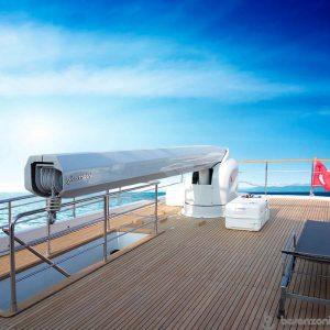 superyacht hydraulic crane 1500kg lift capacity - besenzoni G350 - Gineico Marine