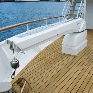 boat crane - hydraulic lift capacity 1.2 tonnes - besenzoni G432 - Gineico Marine