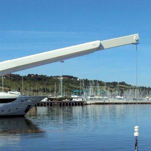 hydraulic crane g422 - besenzoni - gineico marine