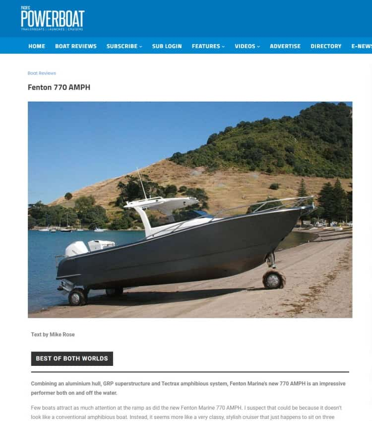 Gineico Marine - Fenton 770 I Power Boat Magazine